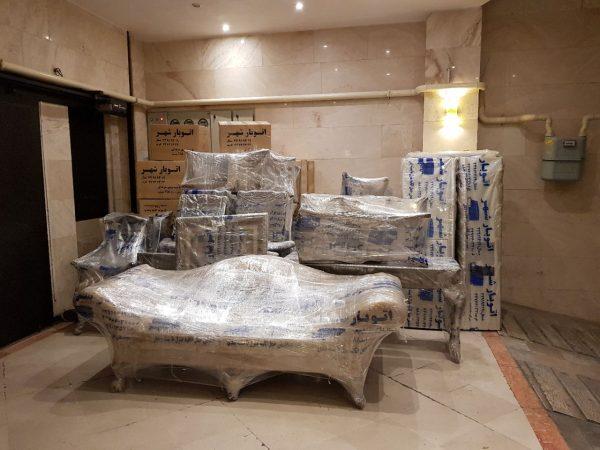 بسته بندی حرفه ای اثاثیه منزل